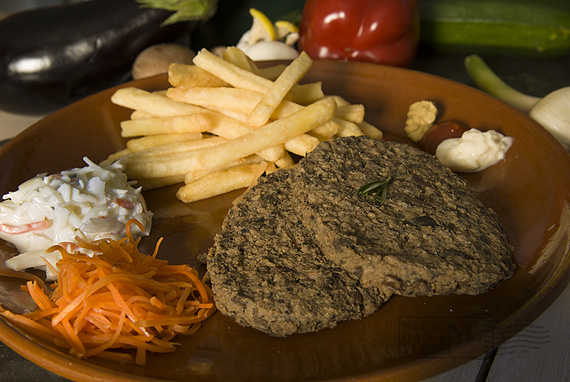 Rund-champignonsburger Meat Your Veggies