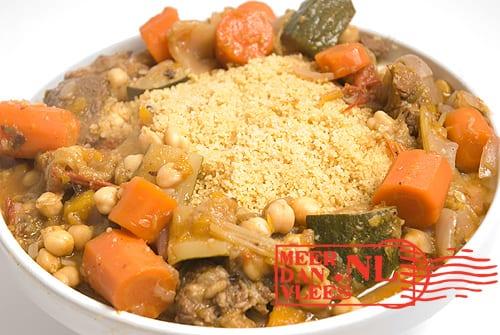 Couscous met groenten en lamsschouder