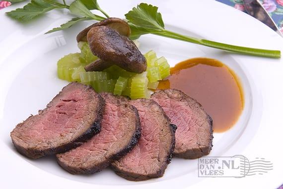 Steak met shi-take