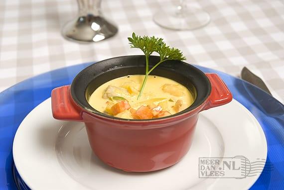 Cassolette van tonijn, zalm en witvis