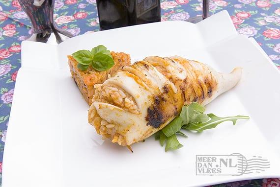 Calamares met rijstvulling