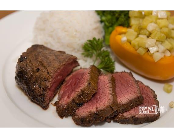 Hanger steak (longhaas) van de grill