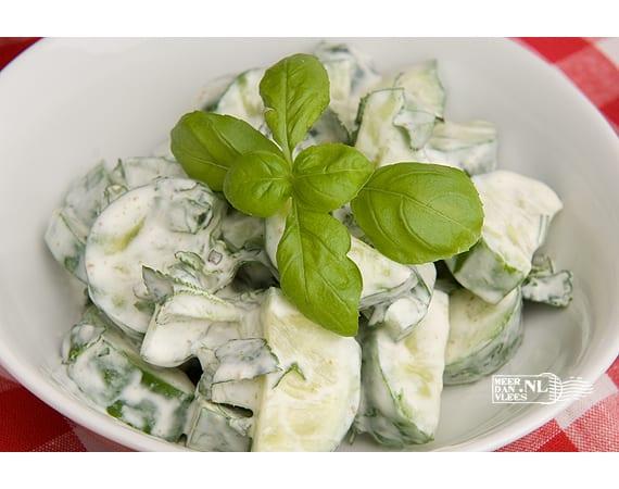 Khiar bi labane, komkommersalade met yoghurt