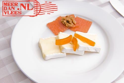 Brie met membrillo en amardine
