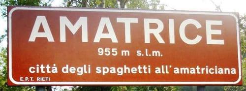 Amatrice, in de Appennijnen, geboortestad van de spaghetti all'amatriciana