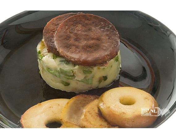 Twentse bakleverworst met stamppotje van rauwe andijvie