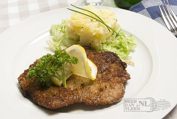 Wiener Schnitzel met eigengemaakte Kartoffelsalat