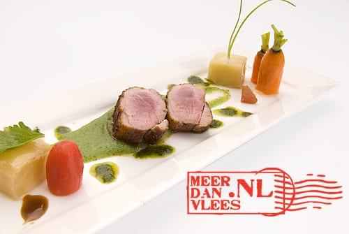Veluwse-eendenfilet met Hollandse groenten en Mediterraanse accenten