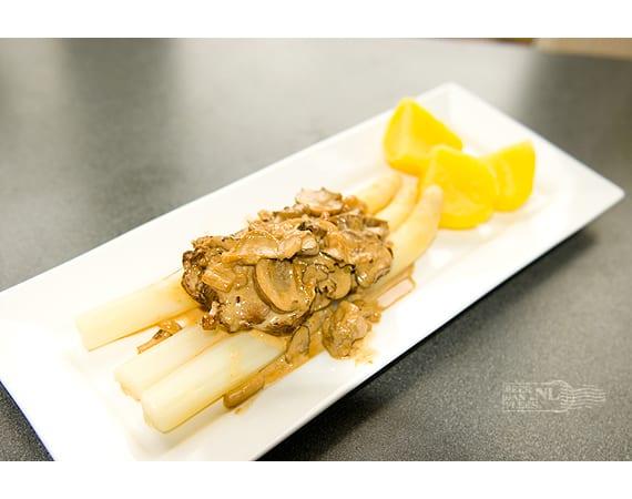 Varkenshaas in champignonroomsaus