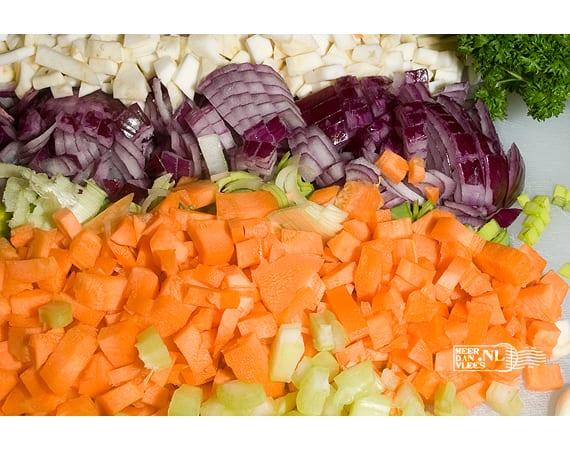 Macedoine van verse groenten