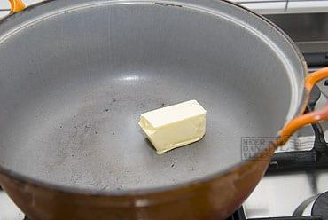 Boter in de pan