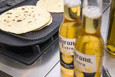 tortilla's and corona