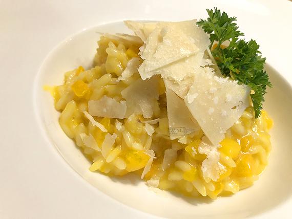 Risotto met pompoen (risotto alla crema di zucca)