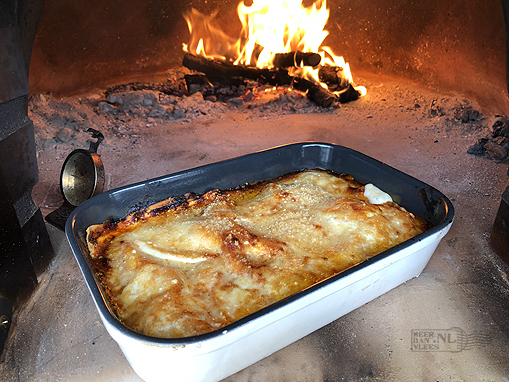 Lasagne uit de houtoven