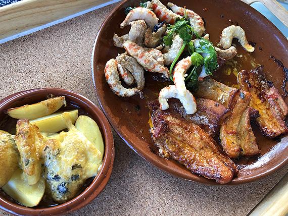Speklap en Vegan shrimpz uit de houtoven