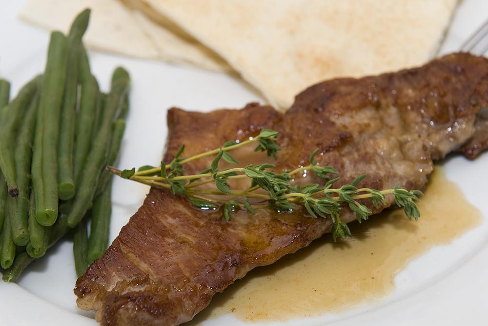 Secreto (bavette) van het Ibéricovarken uit de pan