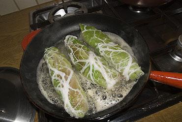 Kalkoenfilet in crépinette met spitskool