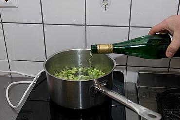 Linguine met crème groene asperges