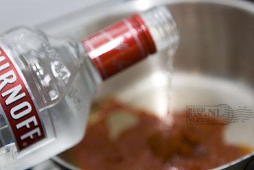 Penne alla vodka (Pasta met room en wodka)