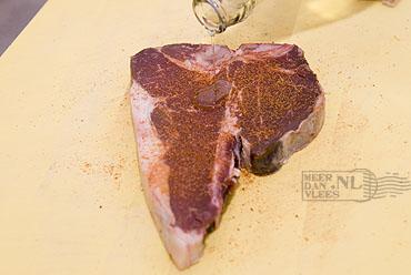 Gegrilde Porterhouse Steak of T-Bone Steak