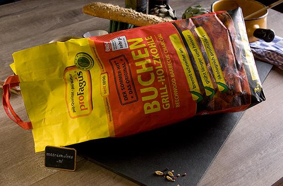 Houtskool ProFagus Buchen Grill