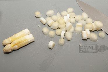 Risotto met witte asperges - risotto agli asparagi bianchi