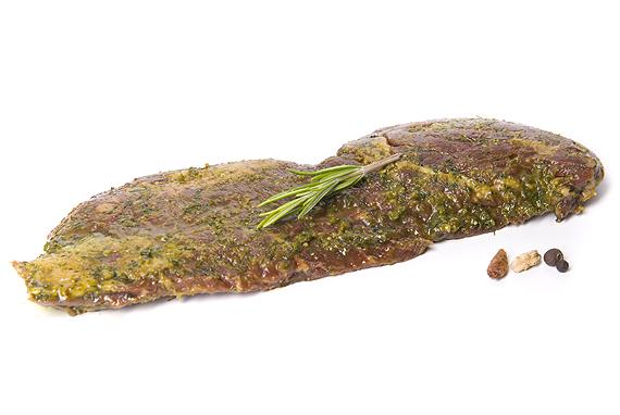 Skirt Steak Garlic Heaven