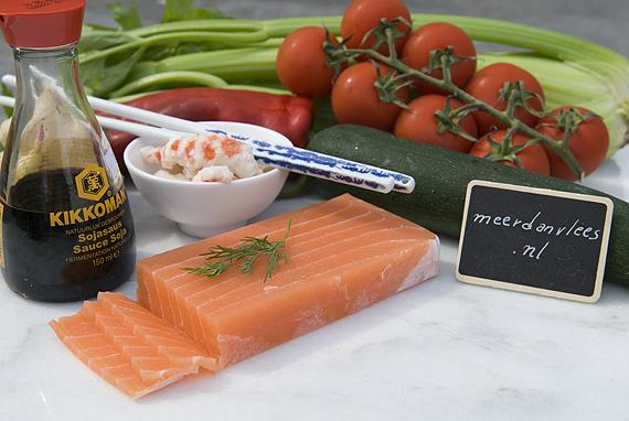 Vegan zalm sashimi