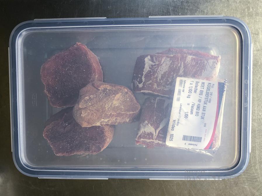 Vlees invriezen bak met deksel