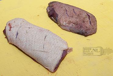Filet van wilde eend en tamme eend