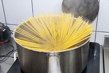Spaghetti met kokkels