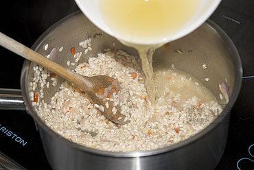 Risotto van visbouillon (risotto al brodo di pesce)