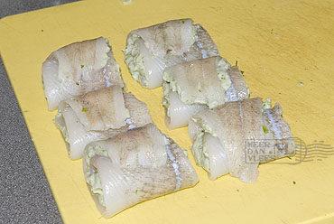 Gevulde visfilets met dragon