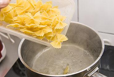 Pasta met crème van walnoten