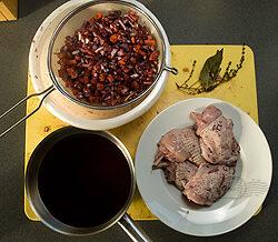 Coq au vin (haantje in rode wijn)