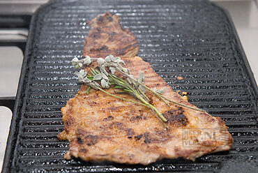 Secreto (bavette) van het Ibéricovarken van de grill