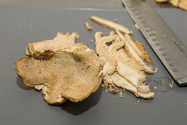 Pappardelle met pied de mouton in roomsaus