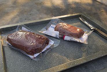 Dikke lende op de barbecue