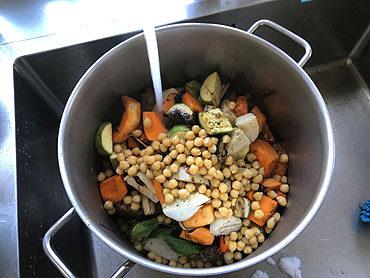 Couscous met gegrilde groenten en lam
